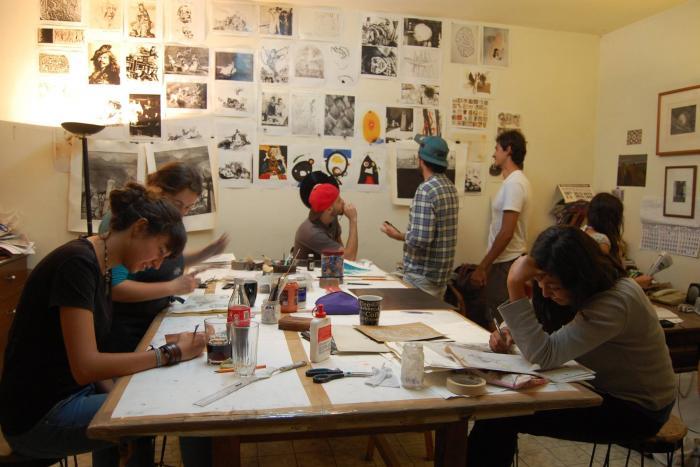 Apoyo alumnos artes plásticas-grabados