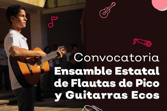Convocatoria Ensamble Estatal de Flautas de Pico y Guitarras Ecos 2019