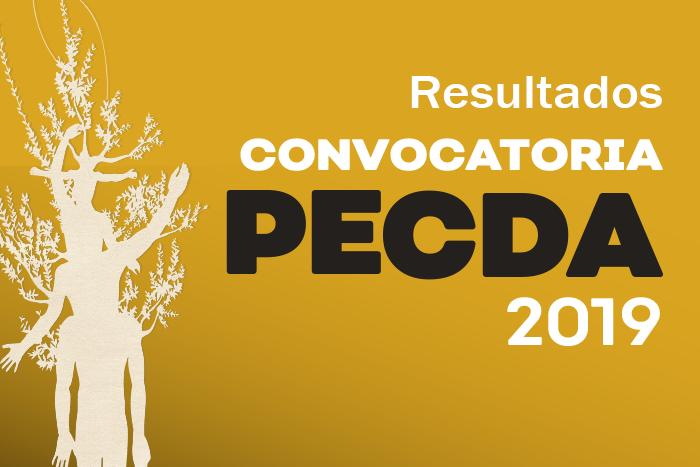 """Resultados: PECDA 2019 """"Creadores Eméritos"""""""