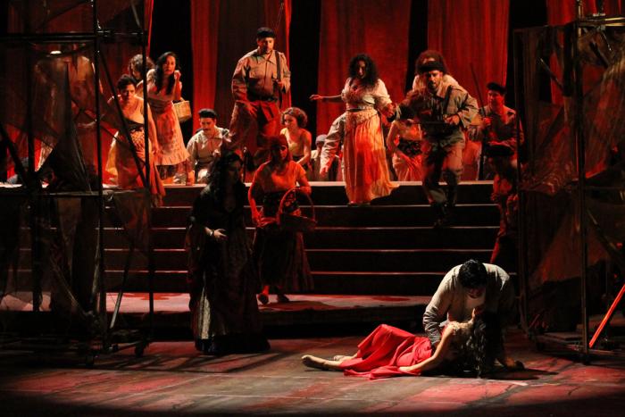 Estrenan con lleno total Ópera Carmen en el Teatro Degollado.