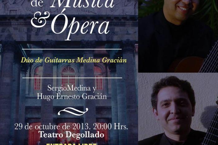 Presentan Dúo de guitarras en los Martes de Música y Ópera