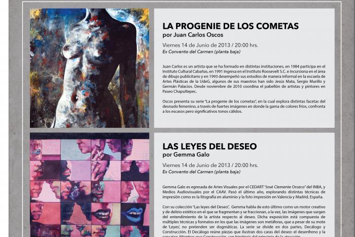 """Presentan """"La progenie de los cometas"""" y """"Las leyes del deseo""""  en el Ex Convento del Carmen"""