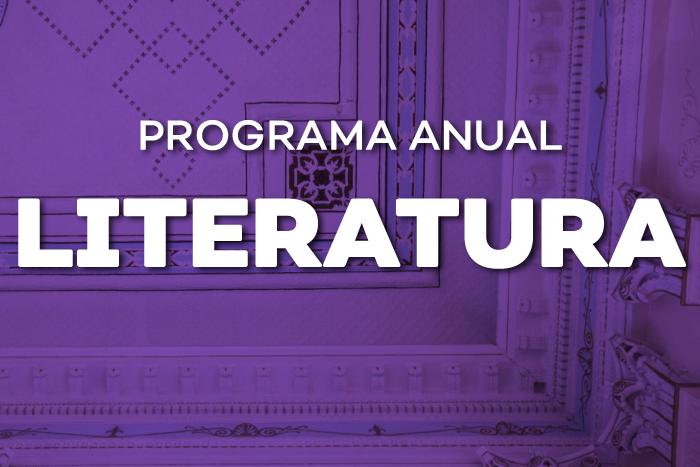 Imagen con texto Programa anual de literatura