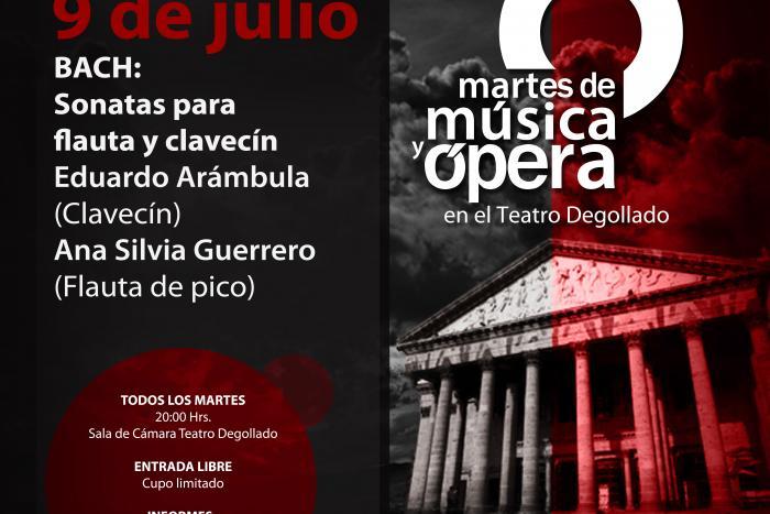 Interpretarán a Bach en los Martes de Música y Ópera