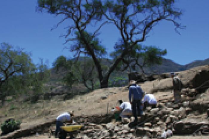 El sitio arqueológico Palacio de Ocomo se encuentra en la comunidad de Oconahua, en el municipio de Etzatlán