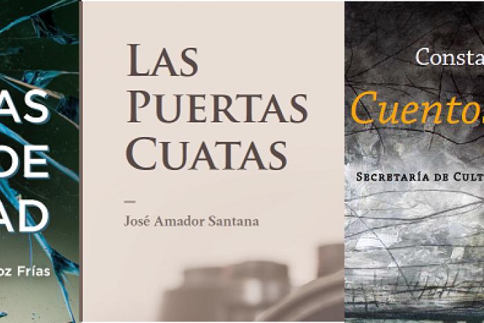 """Presentación de los libros """"Sendas de libertad"""" de José Manuel Muñoz; """"Las puertas cuatas"""" de José Amador Santana y """"Cuentos Reunidos"""" de Constancio Porras."""