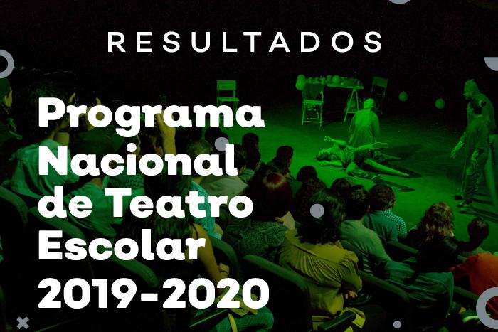Resultados Convocatoria Programa Nacional Teatro Escolar 2019
