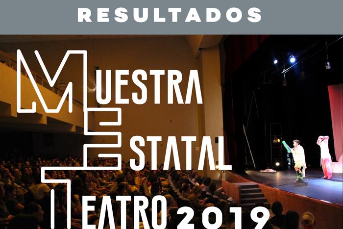 Resultados de la convocatoria Muestra Estatal de Teatro 2019